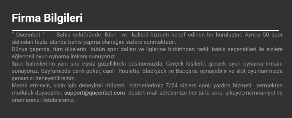 queenbet hakkında